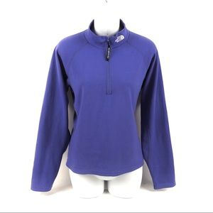 The North Face Blue 1/4 Zip Pullover Sweater